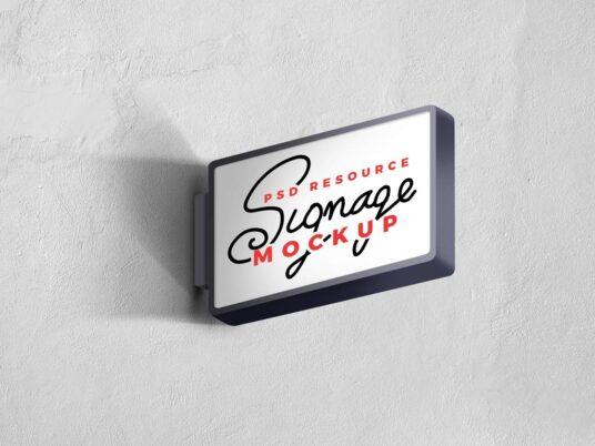 Set of Wall Signage Mockups
