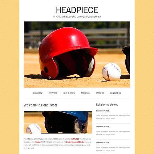 Headpiece html template