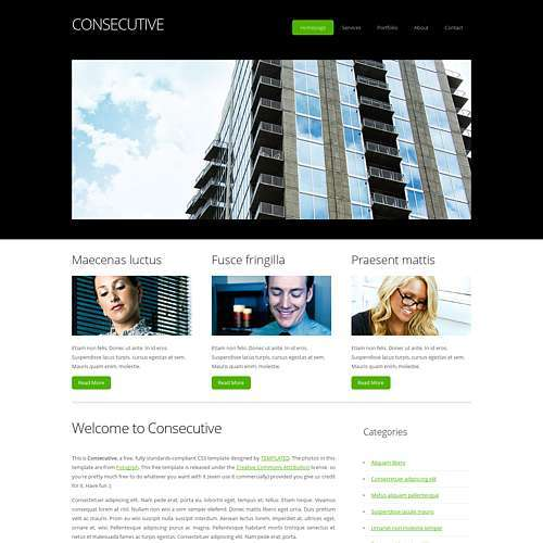 Consecutive html template