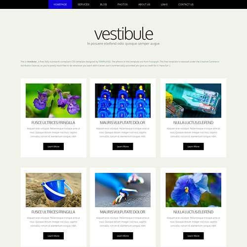 Vestibule html template