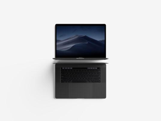Clean MacBook Pro (with Touchbar) Mockup