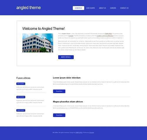 AngledTheme html template