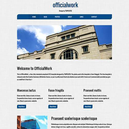 OfficeWork html template