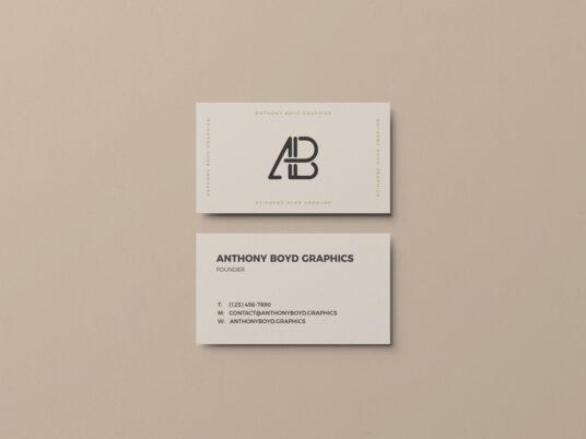 Simple Business Card Showcase Mockup