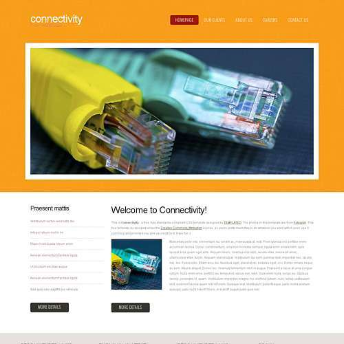 Connectivity html template