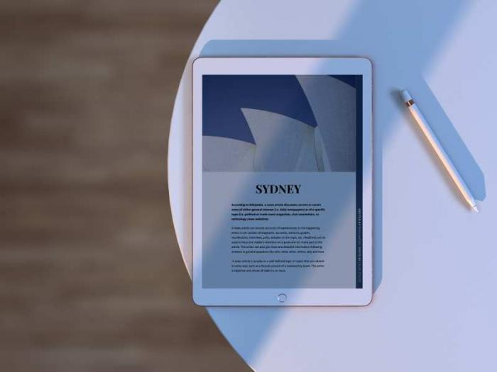 Top View iPad Free PSD Mockup