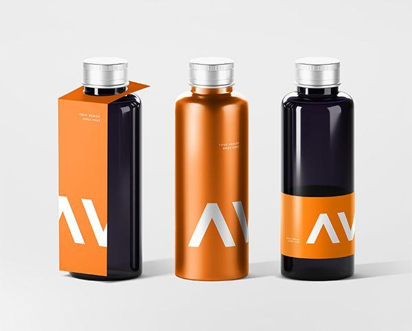 Bottle With Tag Free Mock-ups