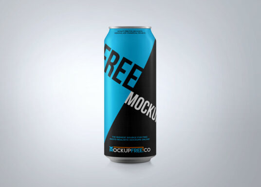 Soda Aluminium Can Mockup