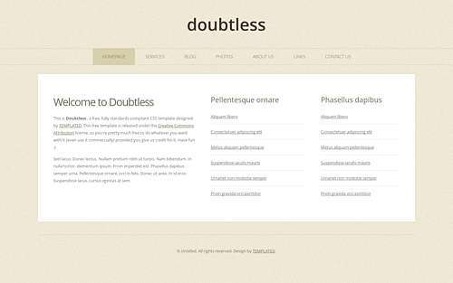Doubtless html template