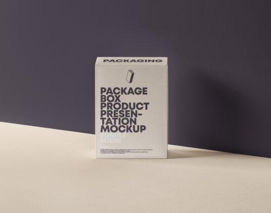 Single Box Packaging Mockup