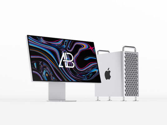 Mac Pro and Apple Pro Display XDR Mockup