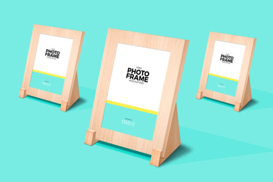 Photo Frame Stand-Up Mockup