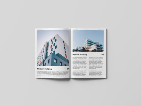 Simple Open Magazine Mockup
