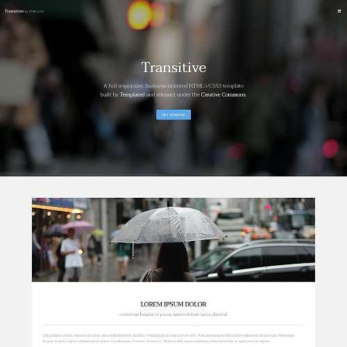 transitive html template