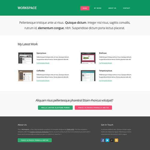 Workspace html template