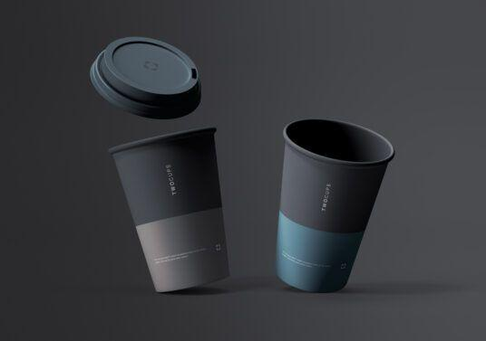 Disposable Coffee Cup Free Mockup