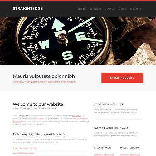 Straightedge html template