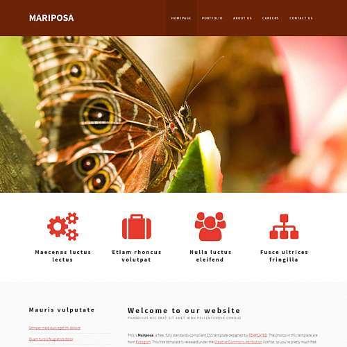 Mariposa html template