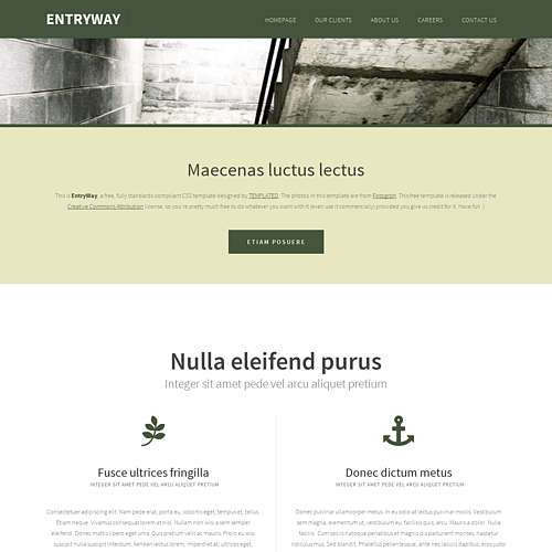 EntryWay html template
