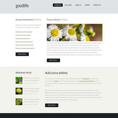 GoodLife html template