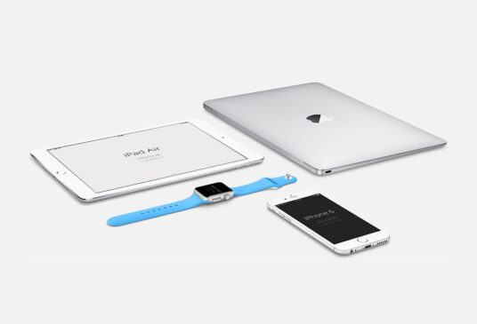 Set of Apple Devices Mockup