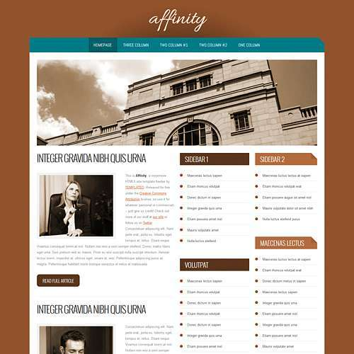 Affinity html template