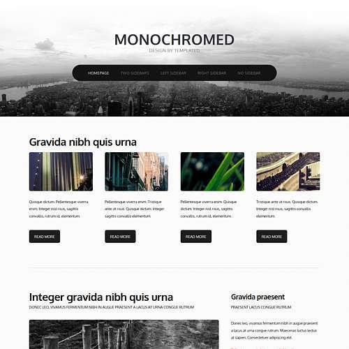Monochromed html template