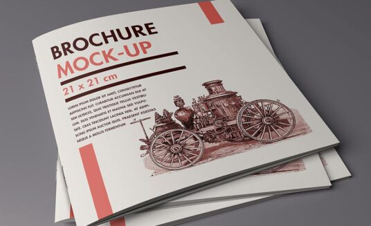 Set of Square Brochure Mockups