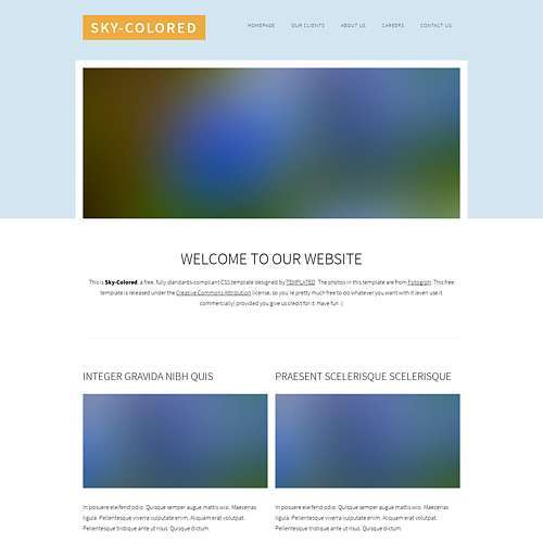 Sky-Colored html template