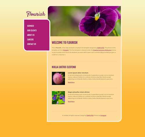 Flourish html template