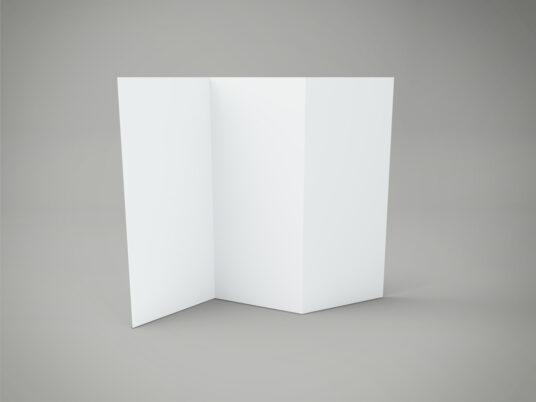 Z-Fold Flyer Mockup