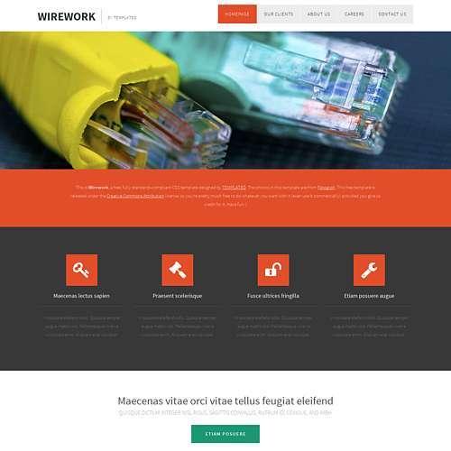 WireWork html template