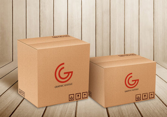 Delivery/Moving Box Mockups